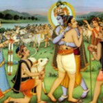 Sri Krishna Embraces Gopa Kumar