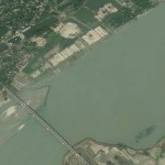 The Ganges River from Google Earth