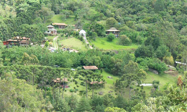Srila Govinda Maharaj looked across the valley at the beautiful Krishna Shakti Ashram