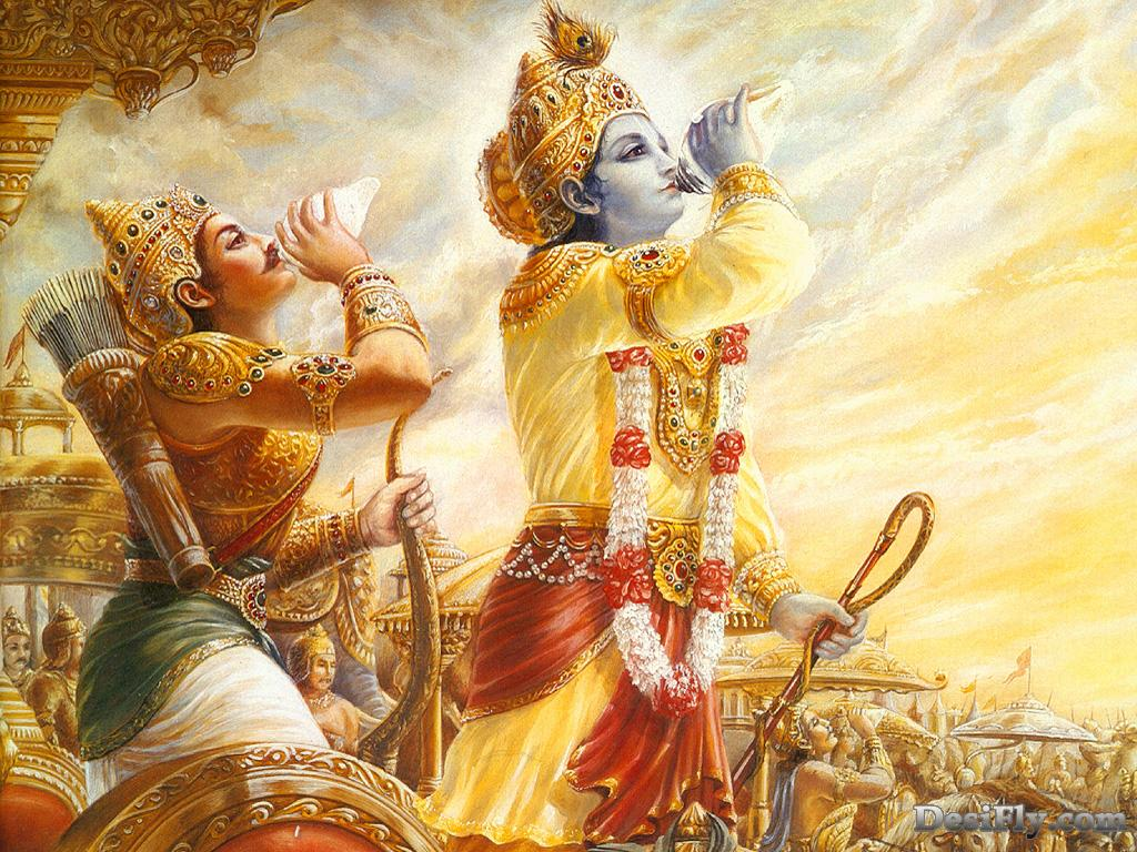 an analysis of the free choice for arjuna in the hindu bhagavadgita religious text Education for a sustainable future: strategies of the new hindu religious movements.